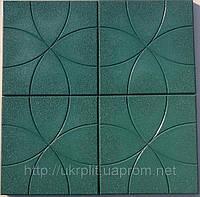 Противоскользящая плитка из резиновой крошки с узорами, фото 1