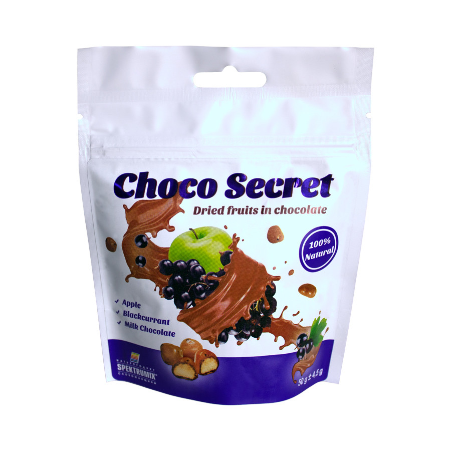 Цукерки з сухофруктів в шоколаді Choco Secret. Яблуко в ягідної оболонці, 50 г