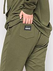 Спортивний костюм жіночий батал оливкового кольору, фото 3
