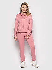 Спорт костюм для повних дівчат на весну кольору пудра, фото 2