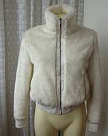 Полушубок женский куртка меховая модная белая бренд New Age р.42-44 4435