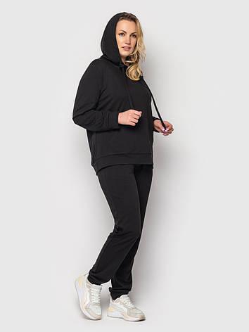 Женский батальный спортивный костюм черный, фото 2