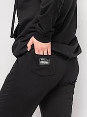 Женский батальный спортивный костюм черный, фото 3