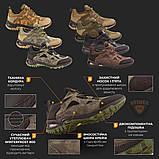 Тактичні кросівки TEXAS нубук cordura камуфляж чорні демі/зима, фото 10