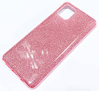 Чохол силіконовий Shiny з блискітками для Samsung Galaxy Note10 Lite N770F / Galaxy A81 Рожевий
