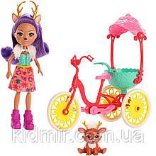 Набор Enchantimals Прогулка на велосипеде и кукла олень Данесса Оленни GJX30