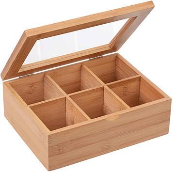 Коробка-шкатулка Gräwe из бамбука для хранения чая и сладостей и прочего 21x16x7,5 см