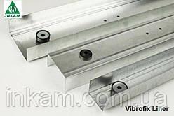 Профиль направляющий звукоизоляционный для стен Vibrofix Liner 75/3м, 0.55мм