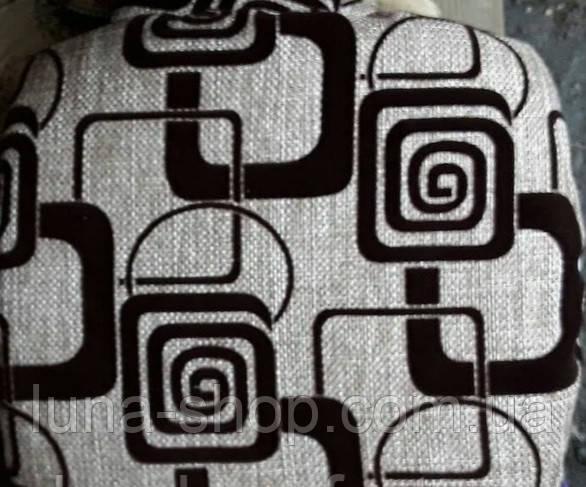 Набір чохлів для стільців, з поролоном, 4 шт, 33х33, сірий