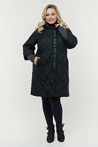 Женская удлиненная весенняя куртка больших размеров 48-72