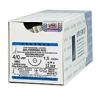 Полипропилен монофиламентный USP (EP) : 4/0 (1,5), 0,75м, колющая иголка 16 мм 1/2, шовный материал, OPUSMED