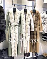 Кашемировое пальто с мехом норки, фото 1