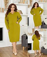 Жіноче плаття,тканина: французскй трикотаж,Стильне плаття для повсякденного образу(48-58), фото 1
