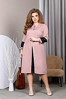 Женское платье,Ткань: турецкая креп костюмка +ставки на рукаве шифон(50-60), фото 1