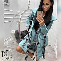 Худи женский на флисе,Ткань : Турецкая 3х нитка на флисе ,фурнитура как на фото БЕЗ ОТЛИЧИЯ!!(42-52), фото 1