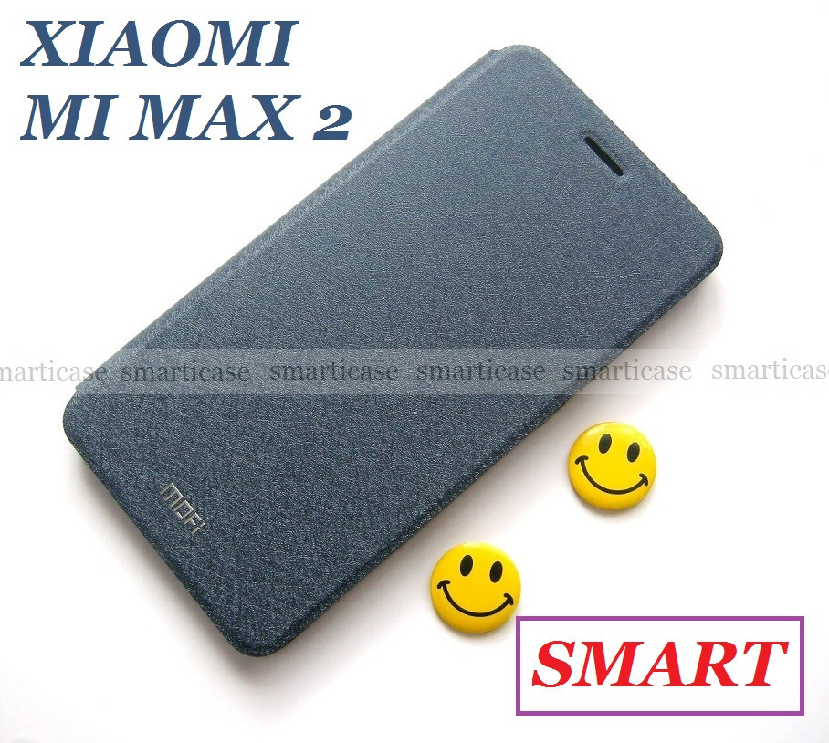 Синий чехол книжка MOFI для Xiaomi Mi max 2, умная обложка (smart книжка)