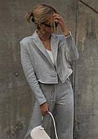 Жіночий костюм,Тканина: двунітка Туреччина, На поясі штанів гумка, застібка на піджачку гудзик(42-48), фото 1
