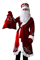 Дед Мороз новогодний карнавальный костюм для мальчика / BL -  ДНг1