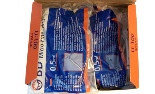 Шприцы для инсулина bd micro fine plus 0,50 мм (30G) x8 мм