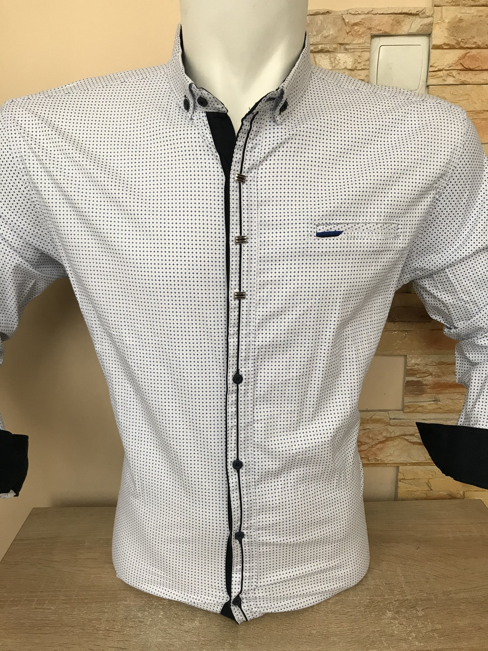 Батальна сорочка стрейч-котон G-port