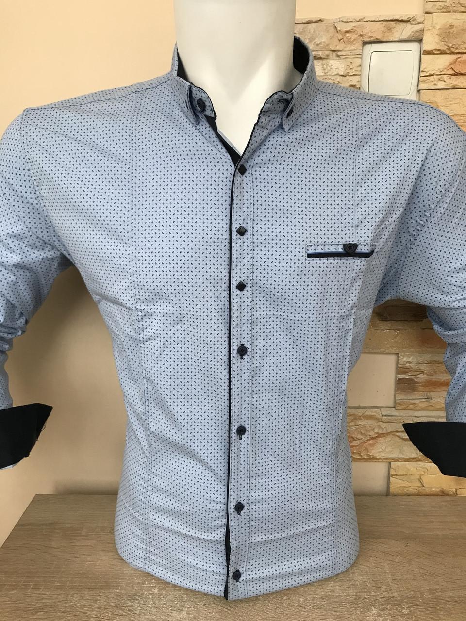 Батальная рубашка стрейч-коттон G-port