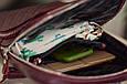 """Рюкзак жіночий шкіряний міської """"Bordo-shine"""". Колір бордовий, фото 5"""