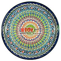 Ляган (узбекская тарелка) 45х5см для подачи плова керамический (ручная роспись) (вариант 1), фото 1