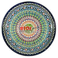Ляган (узбекская тарелка) 45х5см для подачи плова керамический (ручная роспись) (вариант 3), фото 1
