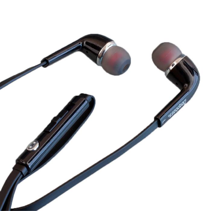 Вакуумні навушники з мікрофоном (гарнітура) DeepBass D-01