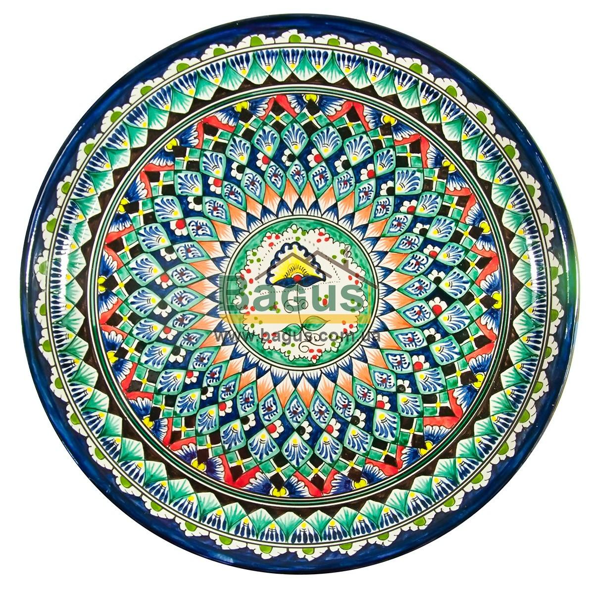 Ляган узбекский (тарелка узбекская) диаметр 45см ручная работа 4505-06