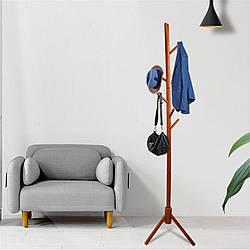 Вешалка стойка для одежды напольная деревянная цвет коричневый, высота 175 см