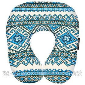 Дорожня подушка Блакитний орнамент