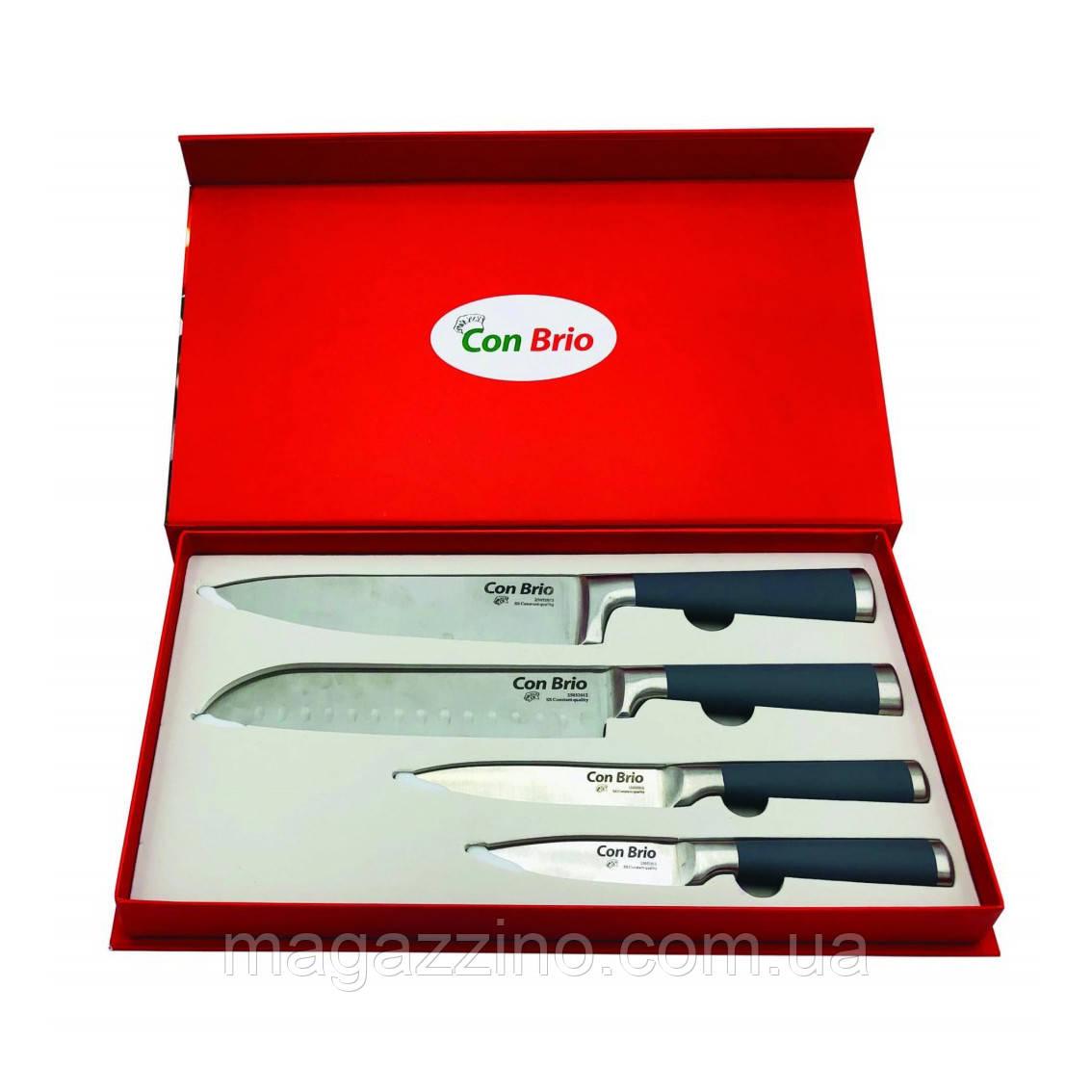 """Набор ножей в подарочной упаковке, """"ConBrio"""", 4 прибора"""