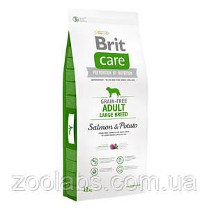 Корм Brit Care для собак крупных пород | Brit Care Adult Large Breed Salmon & Potato 12,0 кг