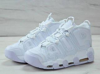 Чоловічі білі Кросівки Nike Air More Uptempo