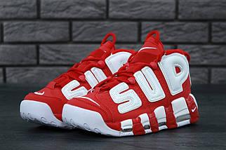 Чоловічі червоні Кросівки Nike Air More Uptempo