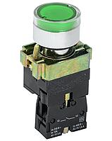 Кнопка LAY5-ВW3361 зелена з підсвічуванням 22ø NO CNC