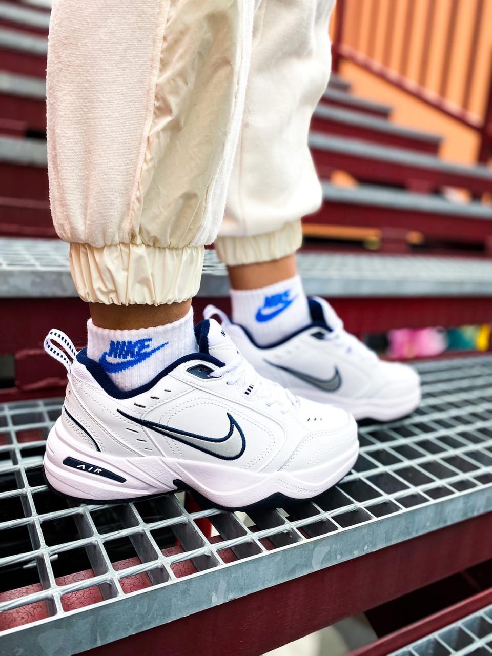 Чоловічі білі Кросівки Nike Air Monarch