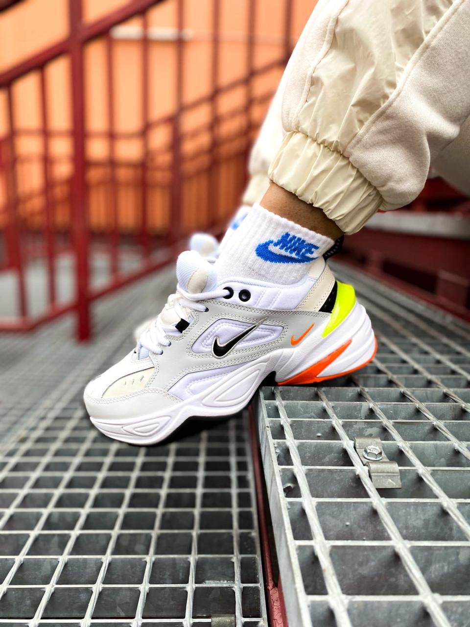 Мужские белые Кроссовки Nike M2K Tekno