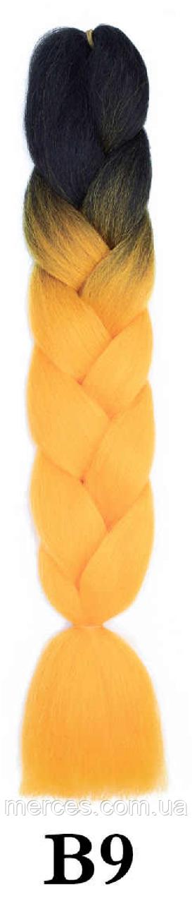 Канекалон чорний + помаранчевий морквяний Довжина 60 ± 5 см Вага 100 ± 5 г Термостійкий двоколірний Jumbo
