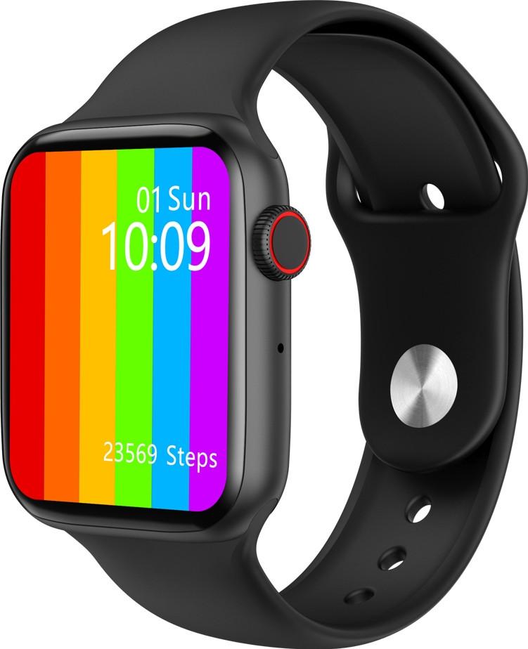 Умные часы IWO 10 Lite Plus с измерителем давления и пульса (Черный)