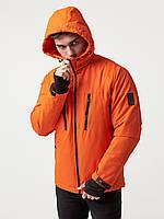 Куртка парка мужская весенняя, спортивная демисезонная мужская куртка , оранжевые