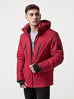 Демисезонная куртка парка мужская весенняя, Молодежная спортивная куртка парка , красная
