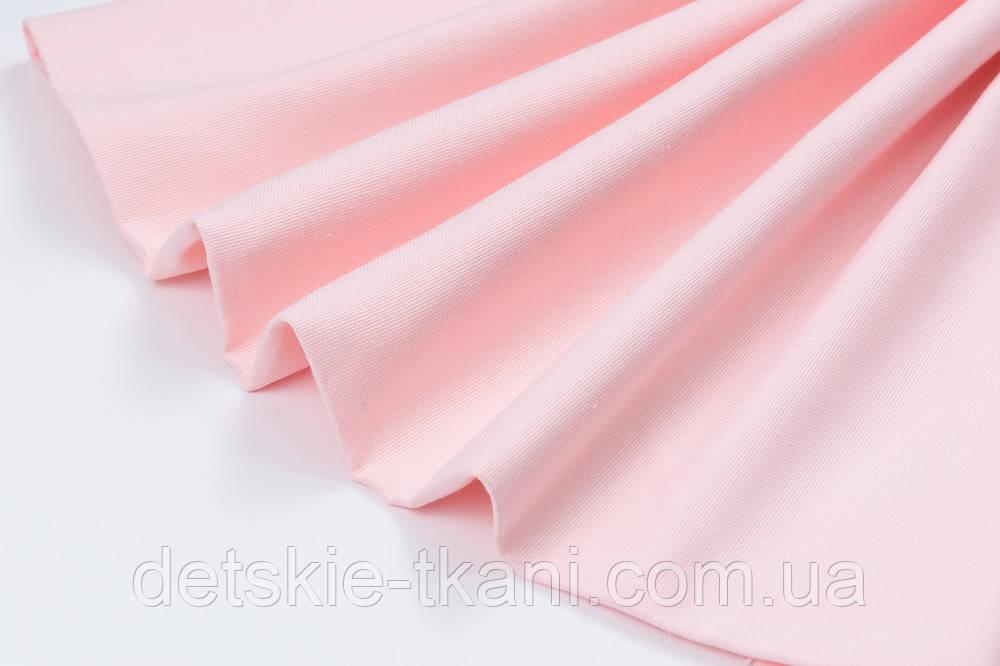 Лоскут однотонної тканини Duck колір рожевого зефіру 50 * 45 см