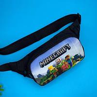 Детская сумка на пояс бананка для мальчика майнкрафт (Minecraft)
