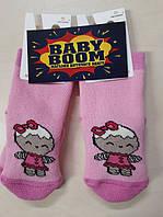Носки розові для новонароджених дівчаток 10 р махра.Африка
