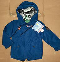 Демісезонні курточки для хлопчиків на ріст:80,86,92,98,104 см подовжені.колір синій та темно-синій