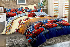 Детский комплект постельного белья, полуторный, Сатин 100% хлопок