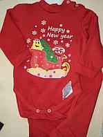 Комплект боді і штанішки для дівчинки на ріст 98-104 см у червоному кольорі