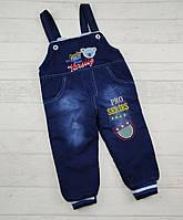 Комбінезони джинсові на махрі на вік:2,3,4 років